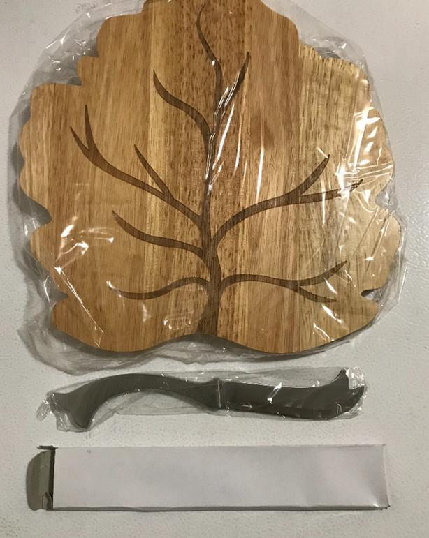 New Sabatier Leaf Design Cheese Board with Knife $10  Still in the box