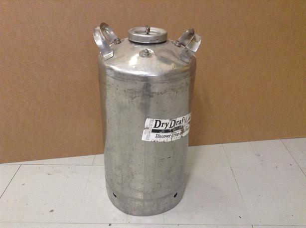10 gallon stainless keg.