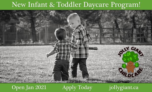 New Infant and Toddler Daycare Program Open!