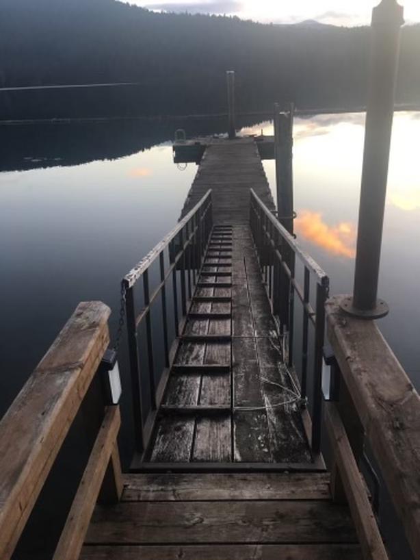 Lake cowichan used dock and steel gangway