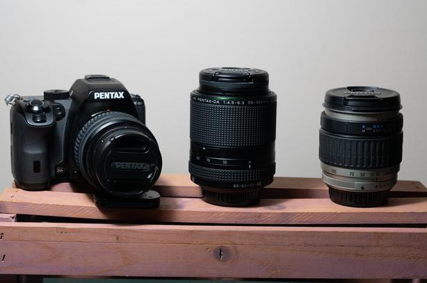 Pentax Ks2 DSLR with lenses and accessories