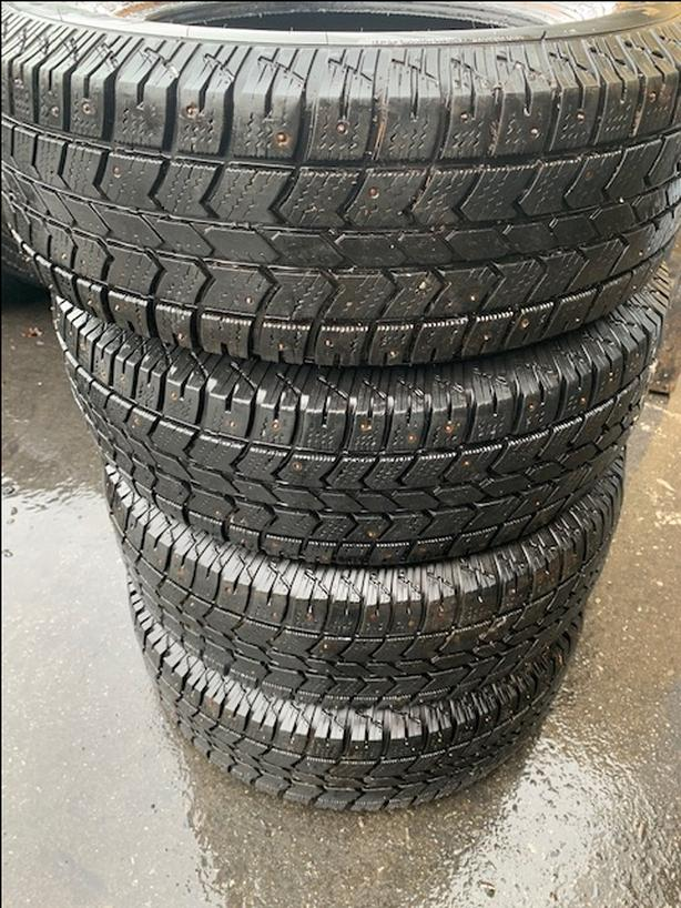 245/70R17 10ply Arctic Claw with studs