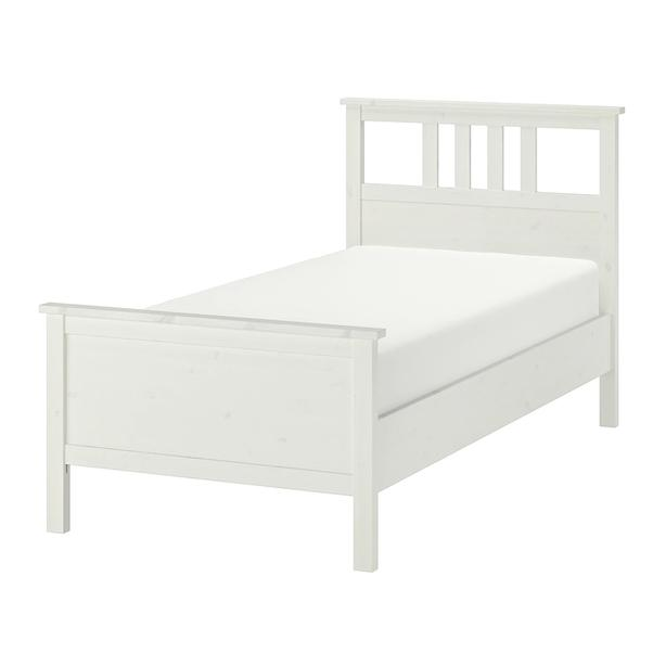 IKEA Hemnes white twin size bed, including slats