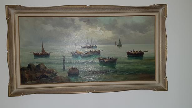 Original DeSilva Painting in frame
