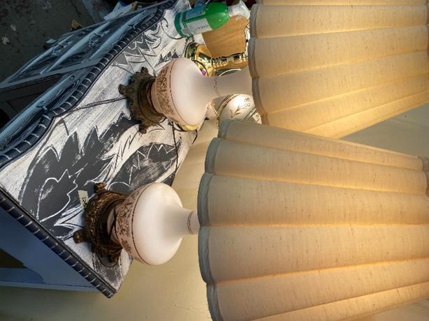 vintage pair of lamps
