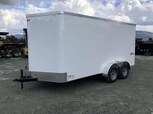 NEW 7x14 V-NOSE TRAX ENCLOSED CARGO TRAILER