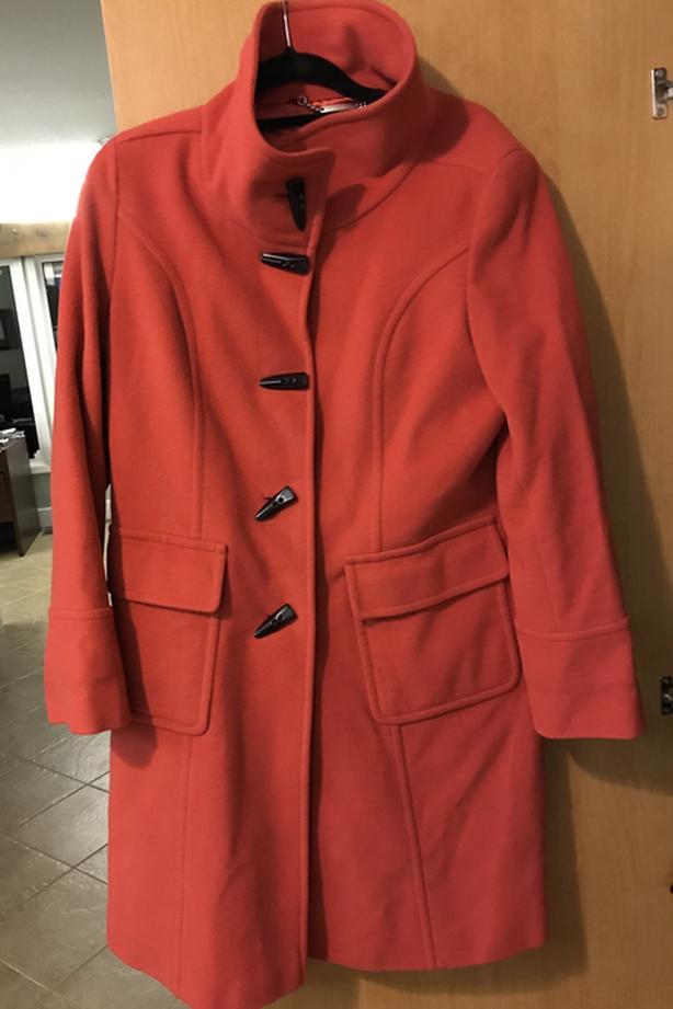 FREE: woman's RED Wool winter coat