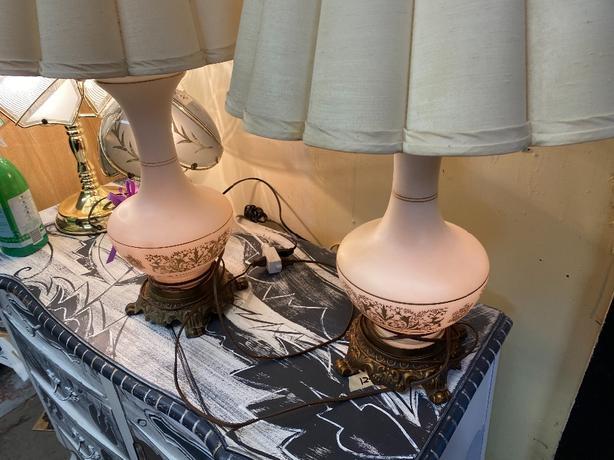 pair of vintage lamp