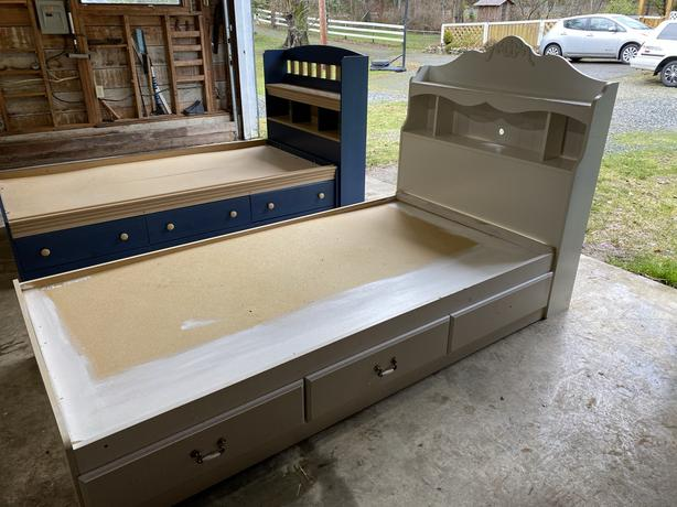 Twin Captain's Bed (white)