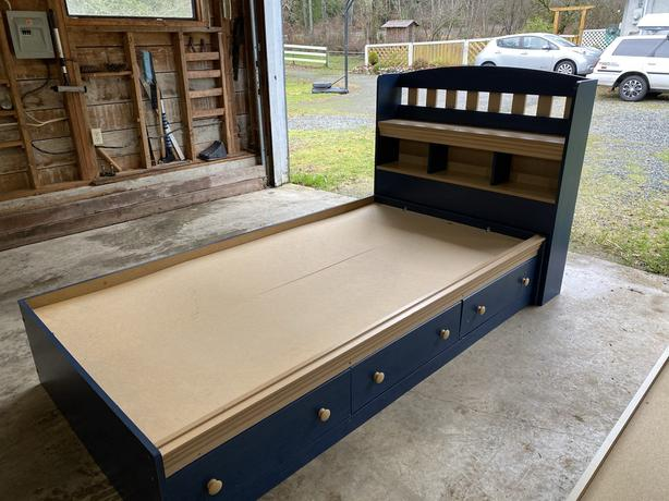 Twin Captain's Bed (blue)