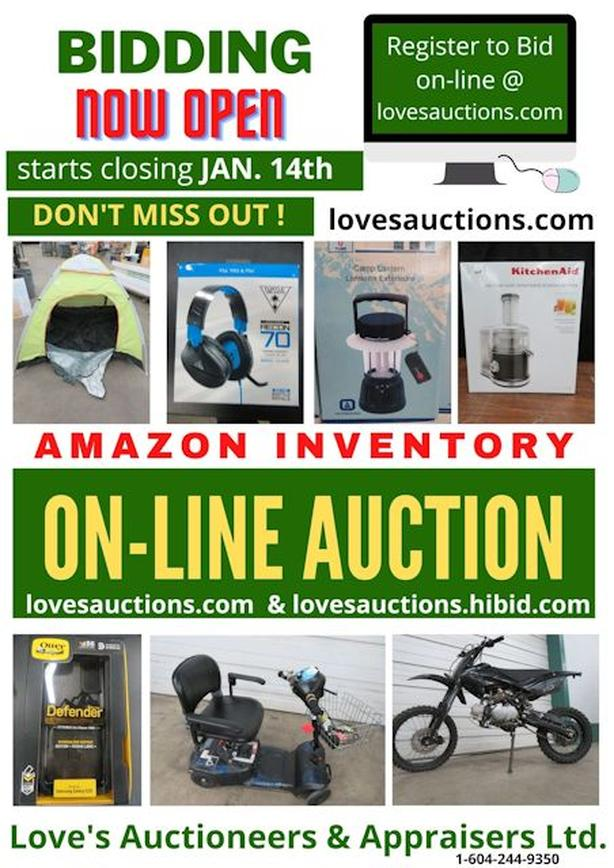 LARGE ONLINE AUCTION FEATURING AMAZON INVENTORY