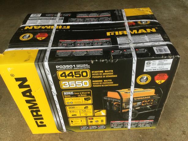 Firman 4500 generator