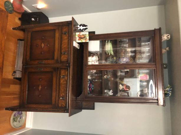 brown china cabinet obo