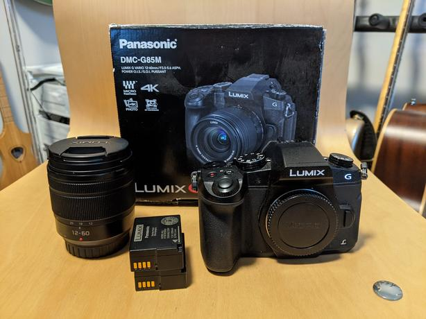 Panasonic G85 m43 camera w/ 2 batteries, 64GB card and 14-42 lens