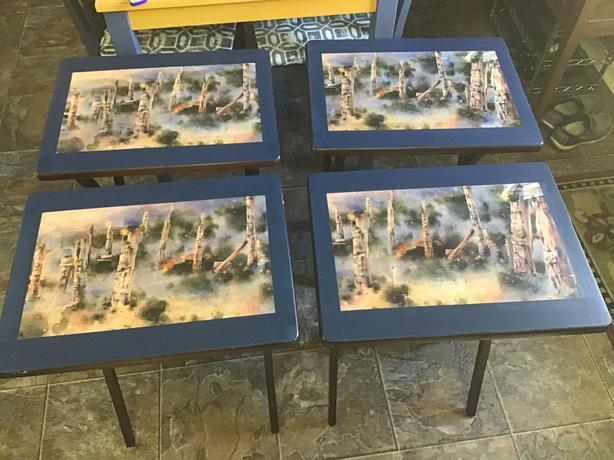 """""""Totems in the mist"""" TV tables"""