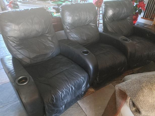 3 seat theatre recliner chairs