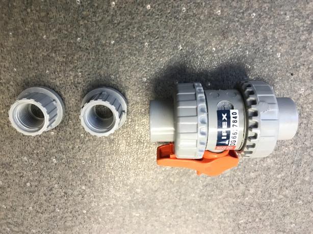 "1/2"" CPVC ball valve"