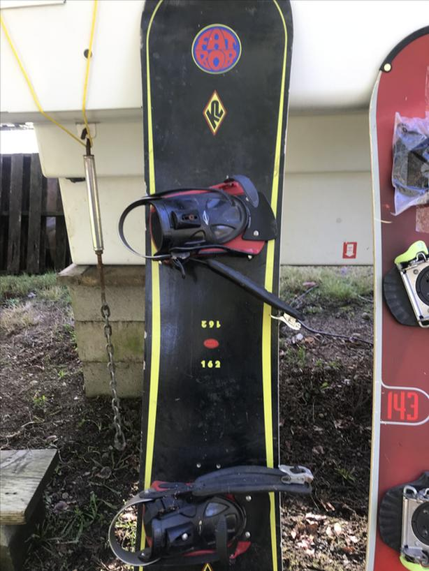 each or all three for $100 - snowboards with bindings