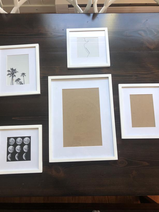 Gallery wall picture frame set
