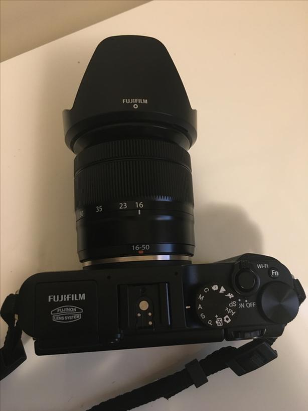Fujifilm X-A1 with Fujinon 16-50mm f/3.5-5.6 lens + accessories