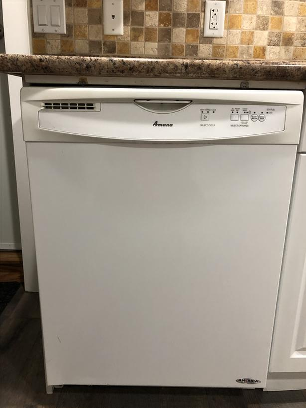 Amana White Dishwasher