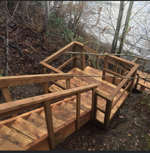 Labour to help build a staircases and decks