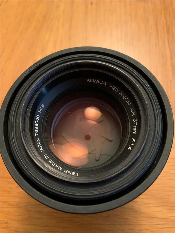 Konica Hexacon 57 mm F 1.4 lens