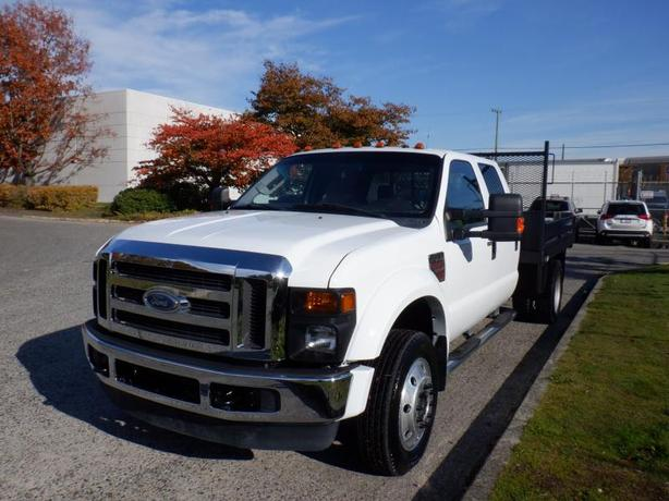2008 Ford F-450 SD Flat Deck 8.8 feet Crew Cab 4WD Diesel Dually
