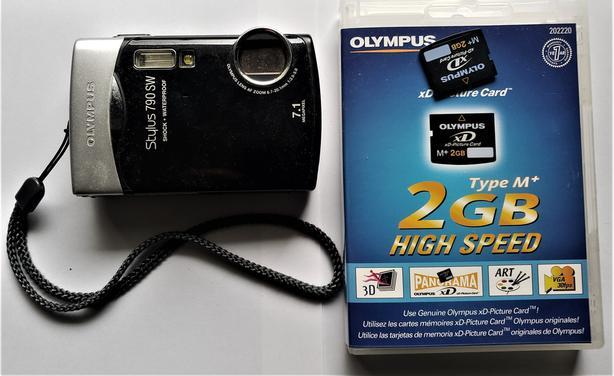 Olympus Stylus 790 SW camera with 2GB card