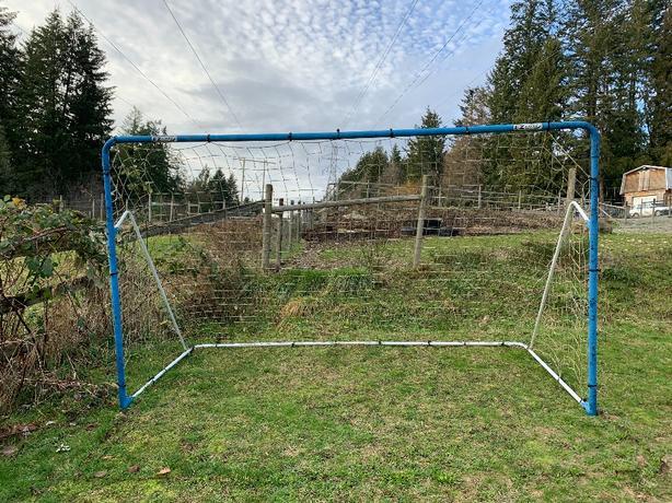 soccer net with rebounder