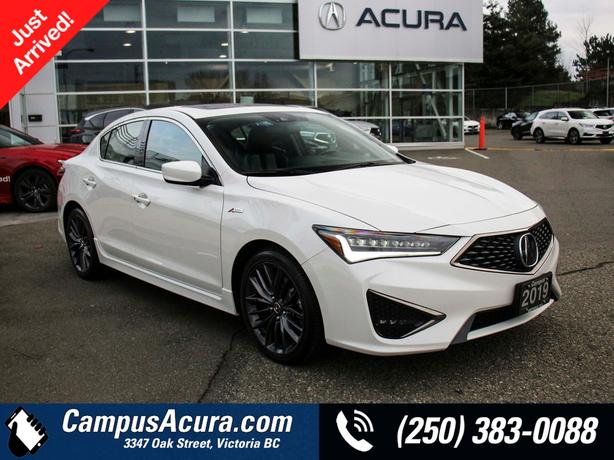Certified Pre-Owned 2019 Acura ILX TECH A-SPEC   Island Owned   Under 25,000 km