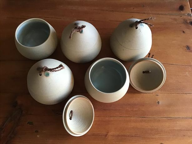 Japanese tea cups/small bowls with lids