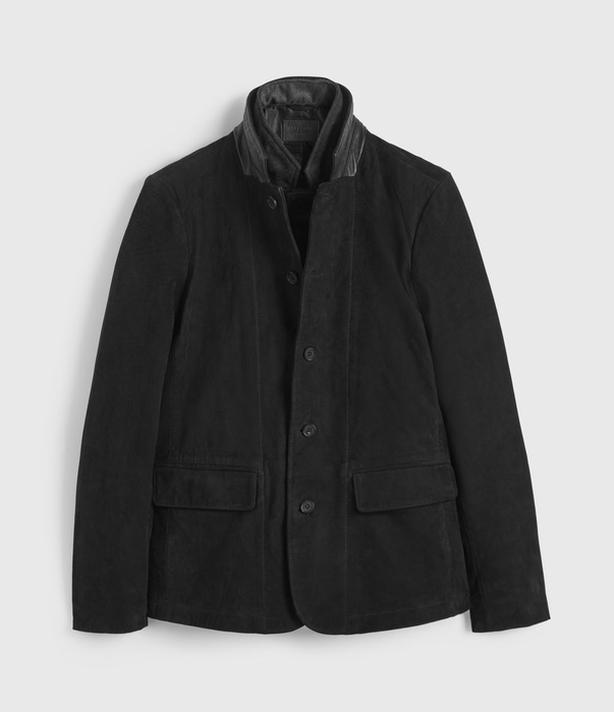 "All Saints ""Survey"" Leather Blazer"