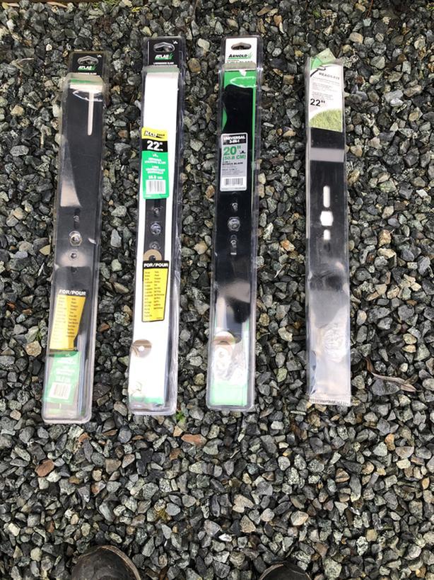 New Lawnmower blades