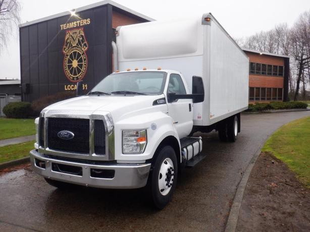 2016 Ford F-750 Cube Van 24 foot 3 Passenger Diesel With Hydraulic Brakes