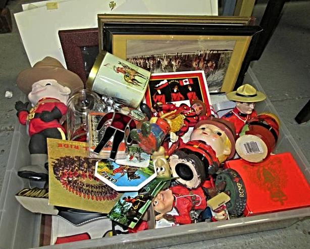 LOT OF ASSORTED RCMP MEMORABILIA AT STEPTOE AUCTION