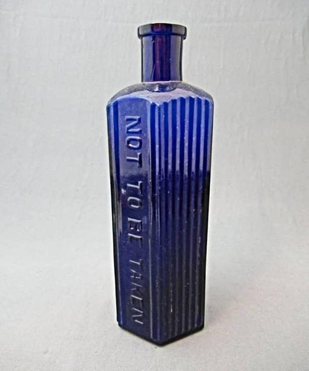 ANTIQUE COBALT POISON BOTTLE AT STEPTOE LOCAL ONLINE AUCTION