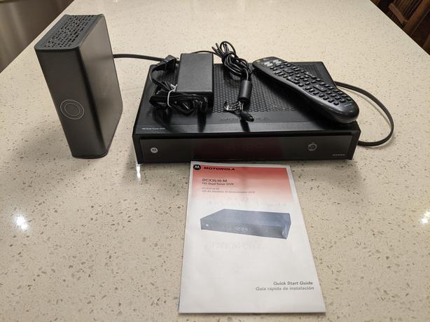 Motorola HD Dual Tuner 500GB DVR w/ 1TB Expander and Logitech Harmony remote