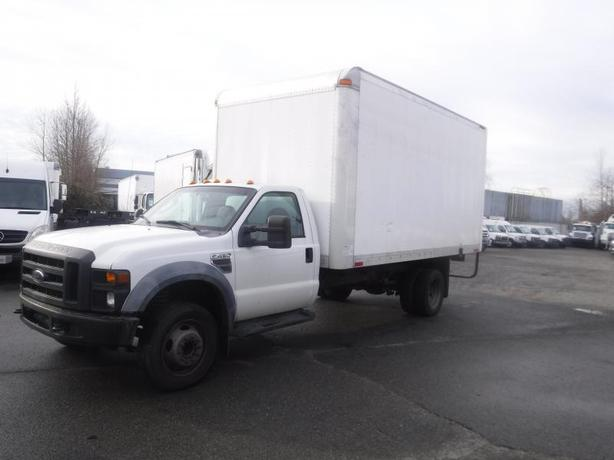 2010 Ford F-450 SD Dually 16 Foot Cube Van Diesel 2WD With Ramp