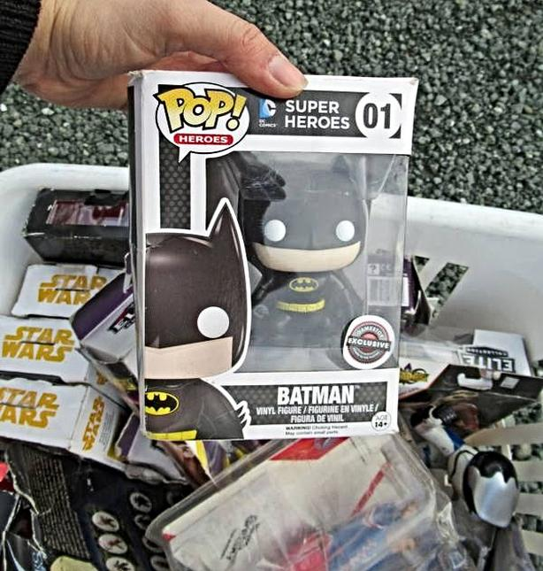 LOT OF ACTION FIGURES IN BOXES INCL. STAR WARS & FUNKO POP AT STEPTOE
