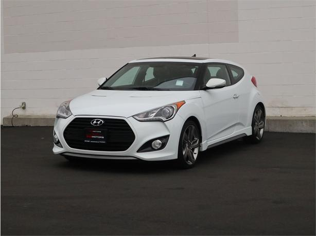 2015 HYUNDAI VELOSTER TURBO 1.6L 4 Cylinder, FWD, Manual - FULLY LOADED!