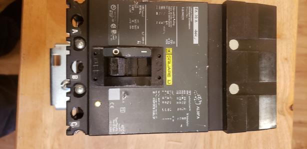 Square-D FA36070- 70A 3 Phase Breaker