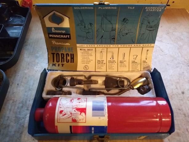 Penncraft Premium Propane Torch Kit in Metal Carry Case