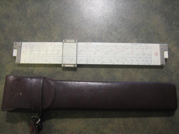 Hughes-Owens Model Versalog 341 3010 Slide Rule With Leather CarryingCase