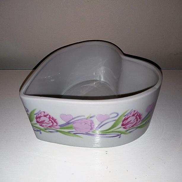 Floral Heart Candy Dish