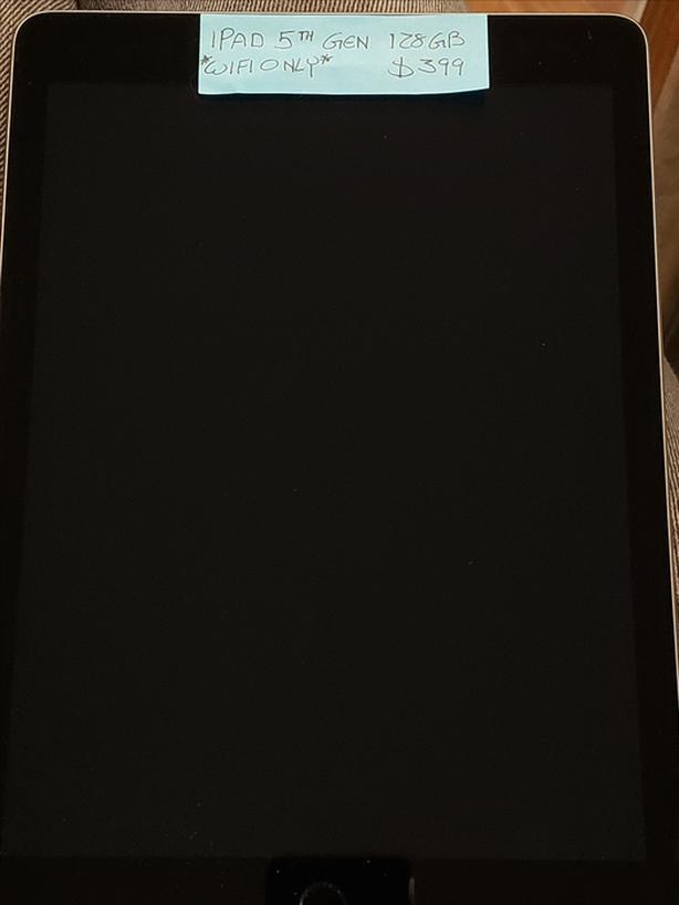 iPad 5th Generation 128GB WIFI only