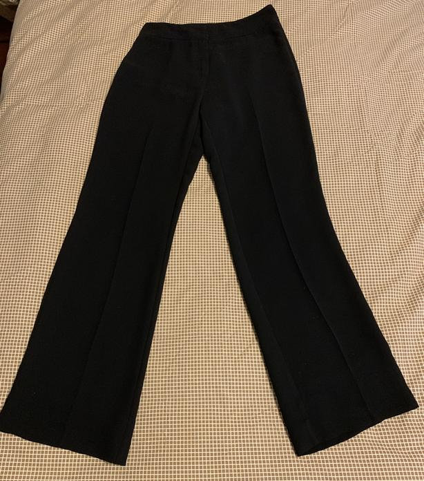 Classic Black No-Wrinkle Dress Pants - Size 6