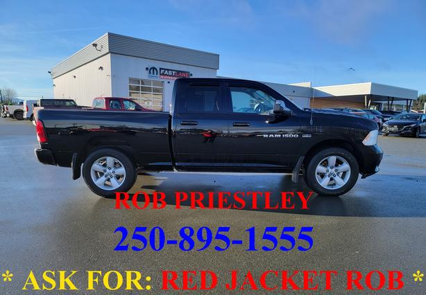 2012 RAM 1500 QUAD CAB SPORT 4X4 * ask for RED JACKET ROB *