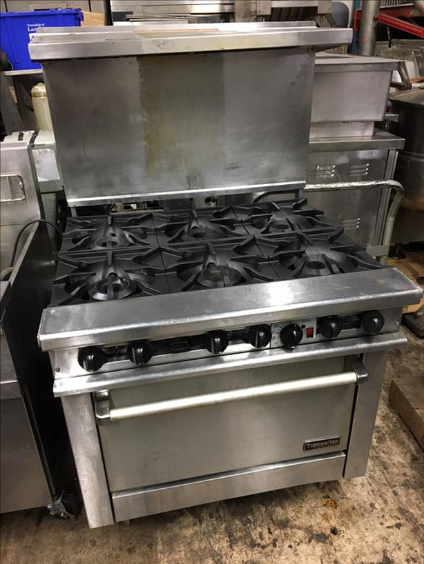 Therma Tek 6 Burner Gas Range with Convection Oven