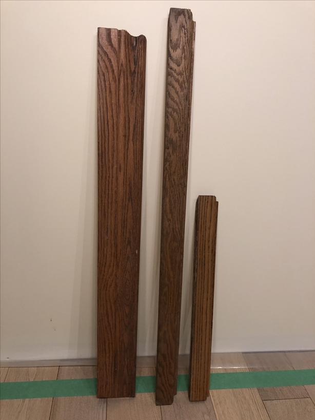 Solid Oak Trim - 3 pieces